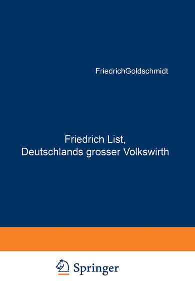 Friedrich List, Deutschlands grosser Volkswirth - Coverbild