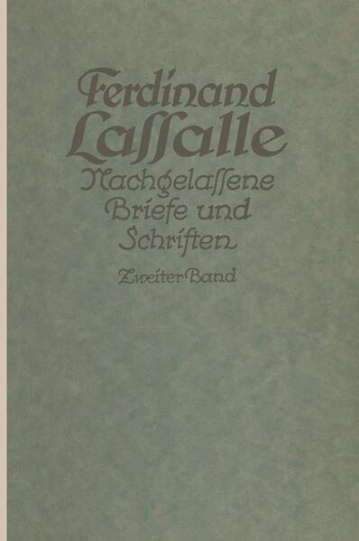 Lassalles Briefwechsel von der Revolution 1848 bis zum Beginn seiner Arbeiteragitation - Coverbild