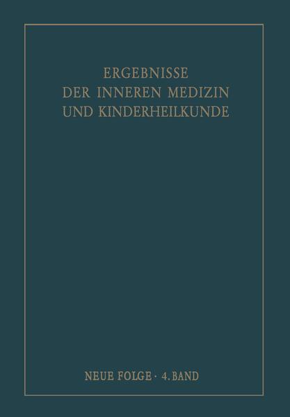 Ergebnisse der Inneren Medizin und Kinderheilkunde. Neue Folge / Advances in Internal Medicine and Pediatrics 4 - Coverbild