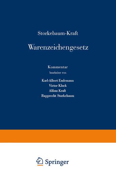 Storkebaum-Kraft Warenzeichengesetz - Coverbild