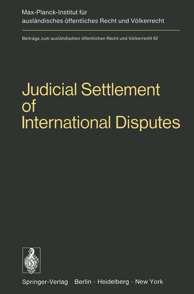 Judicial Settlement of International Disputes - Coverbild