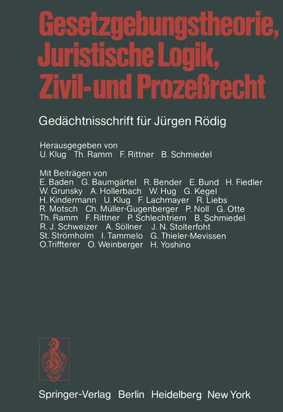 Gesetzgebungstheorie, Juristische Logik, Zivil- und Prozeßrecht - Coverbild