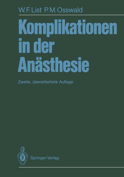 Komplikationen in der Anästhesie - Coverbild