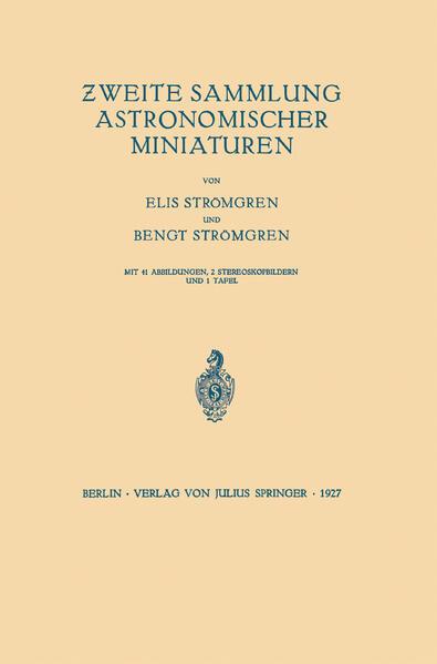 Zweite Sammlung Astronomischer Miniaturen - Coverbild