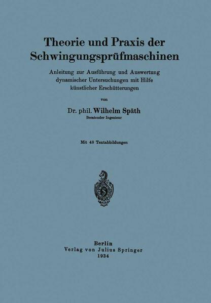 Theorie und Praxis der Schwingungsprüfmaschinen - Coverbild