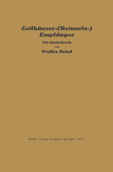 Leithäuser-(Reinartz-) Empfänger - Coverbild
