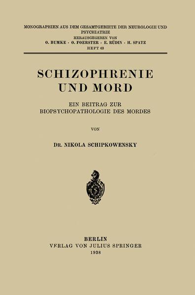 Schizophrenie und Mord - Coverbild