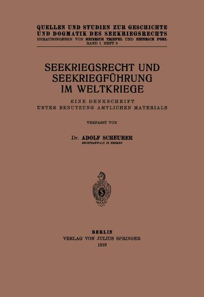 Seekriegsrecht und Seekriegführung im Weltkriege - Coverbild