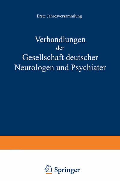 Verhandlungen der Gesellschaft Deutscher Neurologen und Psychiater - Coverbild