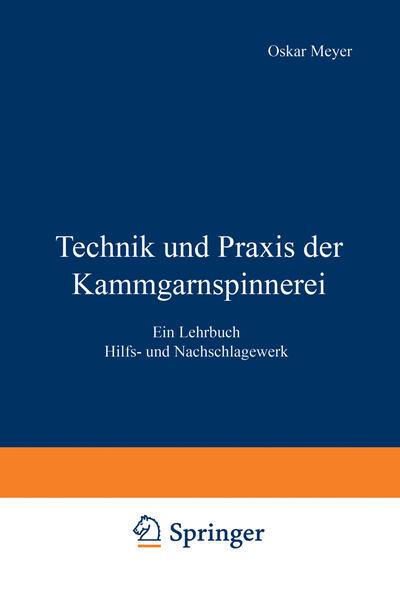 Technik und Praxis der Kammgarnspinnerei - Coverbild