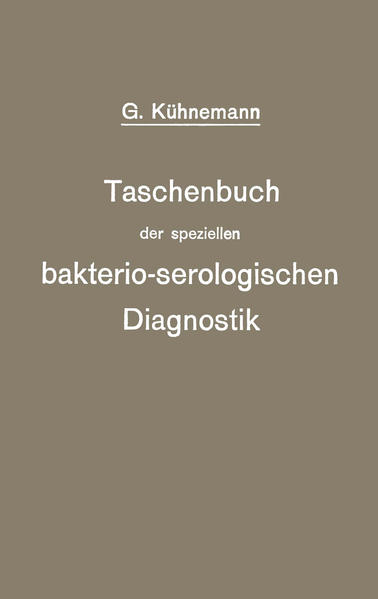 Taschenbuch der speziellen bakterio-serologischen Diagnostik - Coverbild