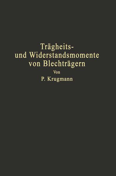 Trägheits- und Widerstandsmomente von Blechträgern - Coverbild