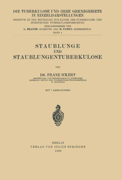 Staublunge und Staublungentuberkulose - Coverbild