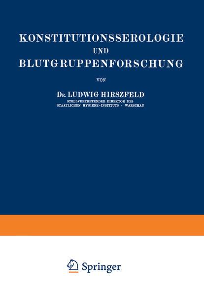 Konstitutionsserologie und Blutgruppenforschung - Coverbild