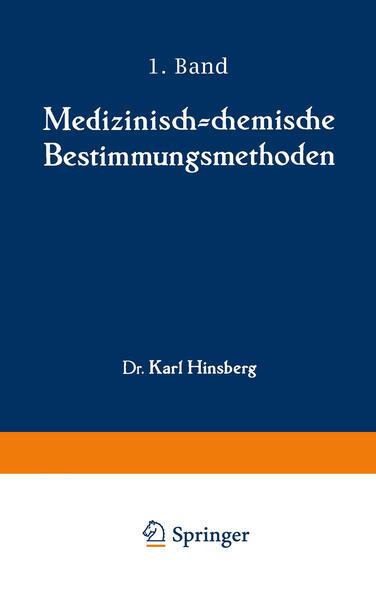 Medizinisch-chemische Bestimmungsmethoden - Coverbild