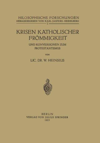 Krisen Katholischer Frömmigkeit und Konversionen zum Protestantismus - Coverbild
