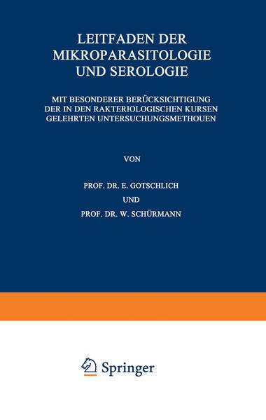 Leitfaden der Mikroparasitologie und Serologie PDF Kostenloser Download