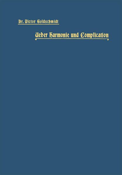 Ueber Harmonie und Complication - Coverbild