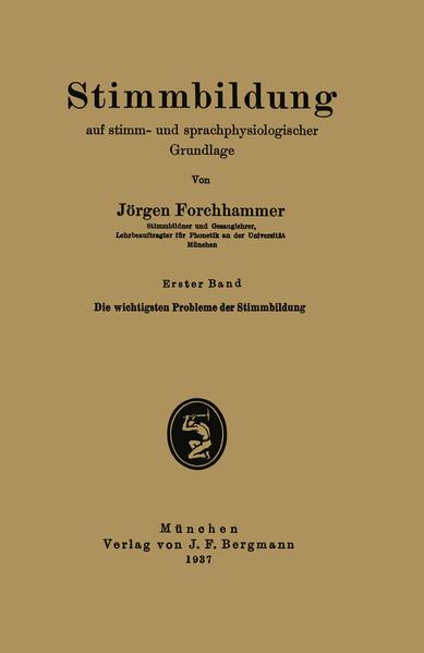 Stimmbildung auf stimm- und sprachphysiologischer Grundlage - Coverbild