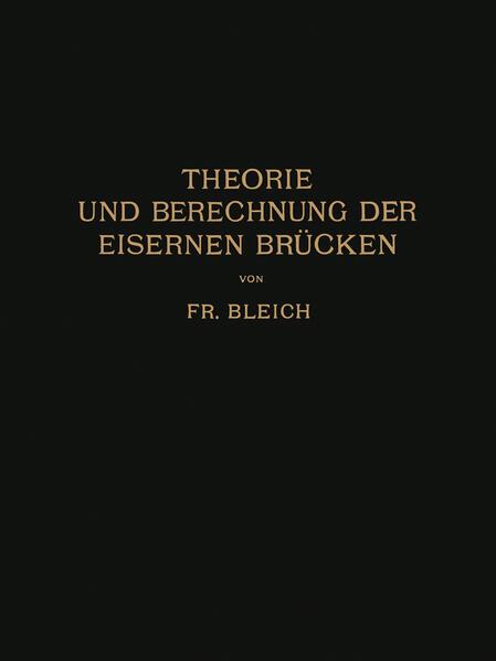 Theorie und Berechnung der Eisernen Brücken - Coverbild