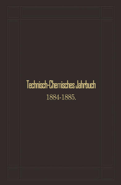 Technisch-Chemisches Jahrbuch 1884–1885 - Coverbild