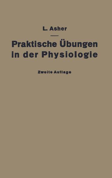 Praktische Übungen in der Physiologie - Coverbild