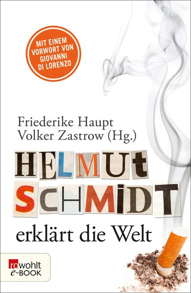 Helmut Schmidt erklärt die Welt - Coverbild