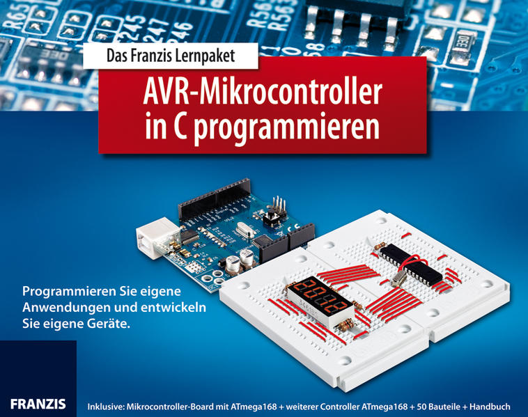 Lernpaket AVR-Mikrocontroller in C programmieren - Coverbild
