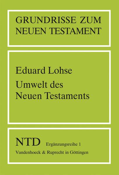 Umwelt des Neuen Testaments - Coverbild