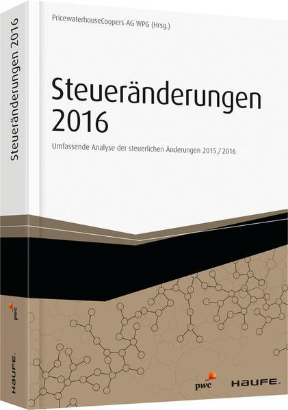 Steueränderungen 2016 - Coverbild