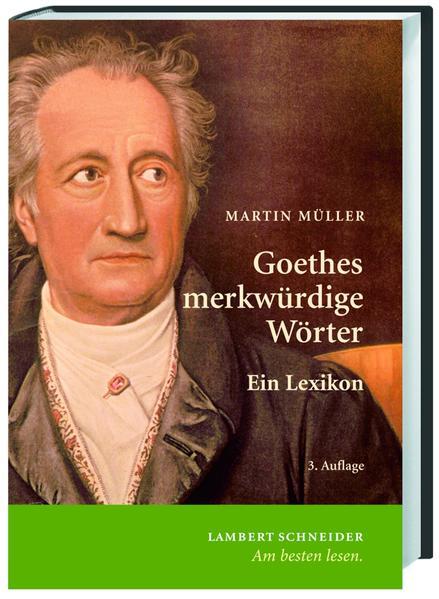 Goethes merkwürdige Wörter - Coverbild