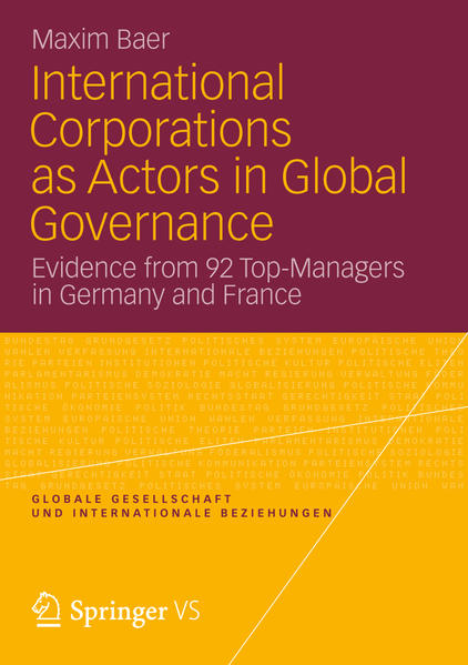 International Corporations as Actors in Global Governance - Coverbild