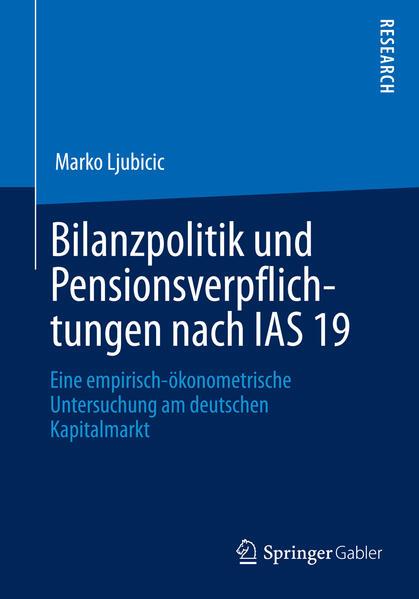 Bilanzpolitik und Pensionsverpflichtungen nach IAS 19 - Coverbild