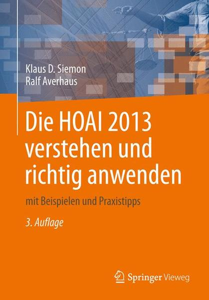 Die HOAI 2013 verstehen und richtig anwenden - Coverbild