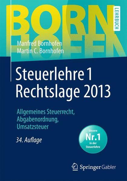 Steuerlehre 1 Rechtslage 2013 - Coverbild