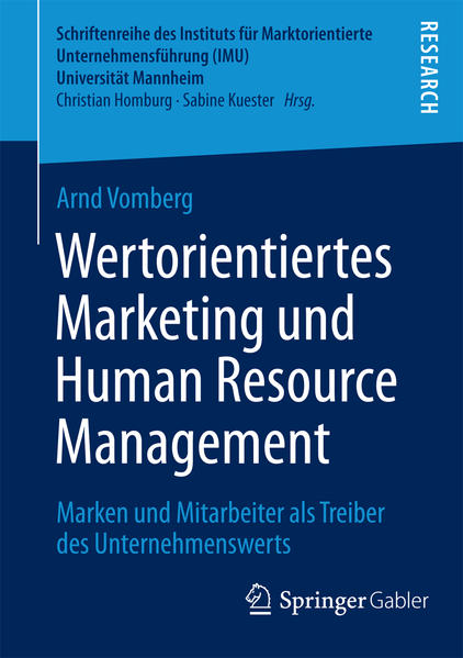 Wertorientiertes Marketing und Human Resource Management - Coverbild