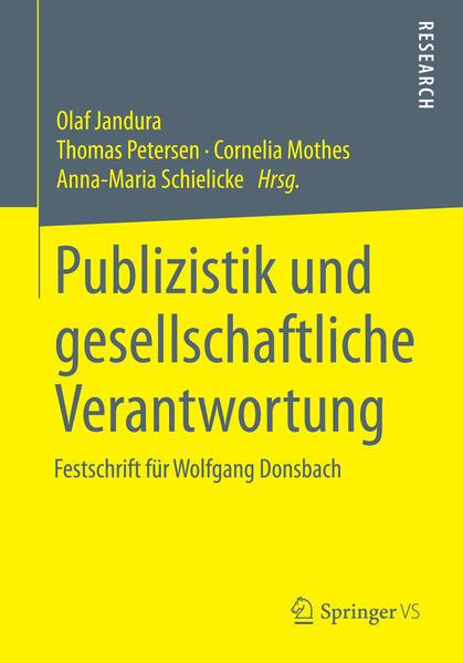 Publizistik und gesellschaftliche Verantwortung - Coverbild