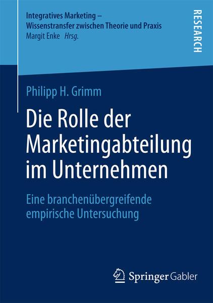 Die Rolle der Marketingabteilung im Unternehmen - Coverbild
