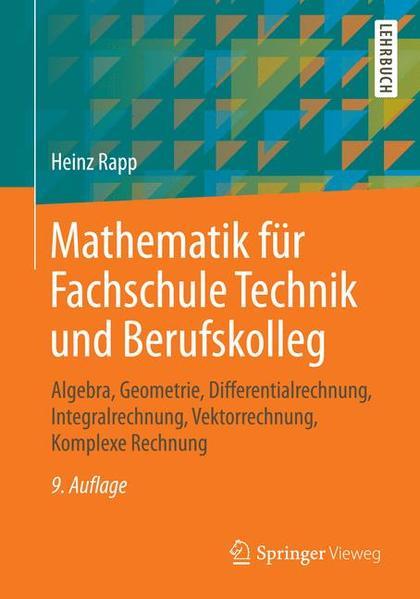 Mathematik für Fachschule Technik und Berufskolleg - Coverbild