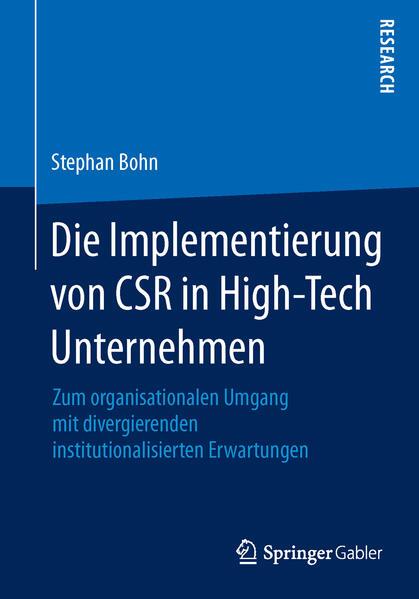 Die Implementierung von CSR in High-Tech Unternehmen - Coverbild
