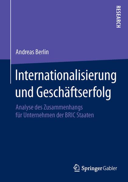 Internationalisierung und Geschäftserfolg - Coverbild