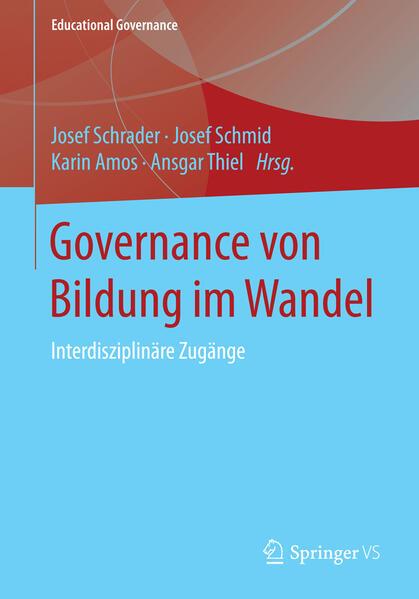 Governance von Bildung im Wandel - Coverbild