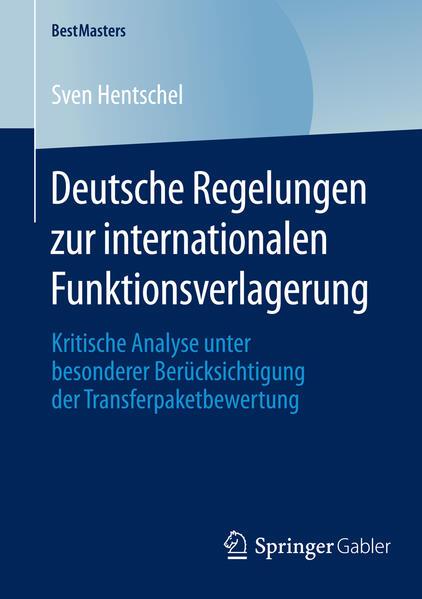 Deutsche Regelungen zur internationalen Funktionsverlagerung - Coverbild
