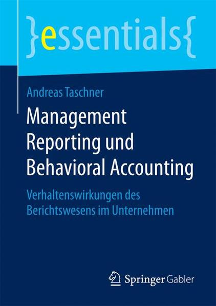 Management Reporting und Behavioral Accounting - Coverbild