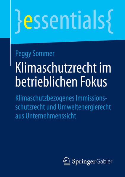 Klimaschutzrecht im betrieblichen Fokus - Coverbild