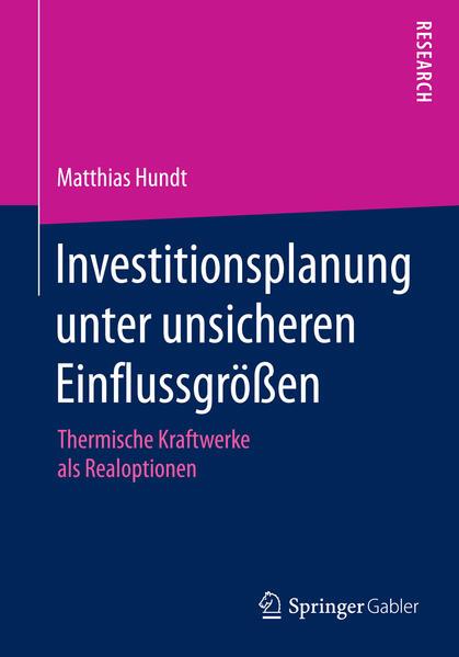 Investitionsplanung unter unsicheren Einflussgrößen - Coverbild