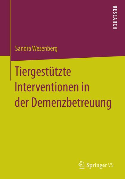 Tiergestützte Interventionen in der Demenzbetreuung - Coverbild