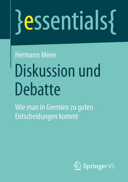 Diskussion und Debatte - Coverbild