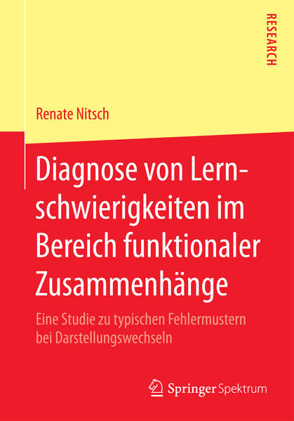 Diagnose von Lernschwierigkeiten im Bereich funktionaler Zusammenhänge - Coverbild
