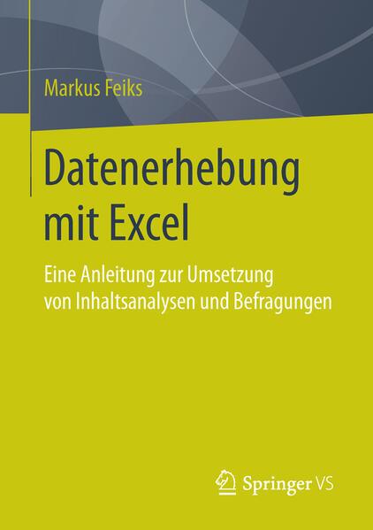 Datenerhebung mit Excel - Coverbild